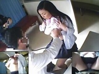 【病院隠撮】女子校での定期健康診断の様子 保健室に隠しカメラを仕掛けたゲス医師が女子校生の半裸を隠し撮り!
