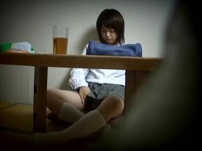 【オナニー盗撮動画】受験を控えた可愛いJKの妹の部屋にカメラ設置!勉強よりも自慰行為に夢中だったw